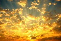 Fantastischer Sonnenaufgang Lizenzfreies Stockfoto