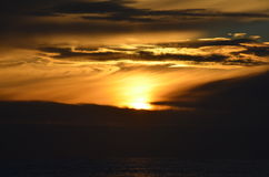 Fantastischer Sonnenaufgang lizenzfreies stockbild