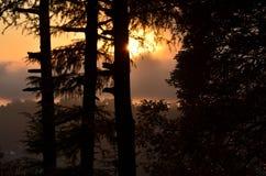Fantastischer Sonnenuntergang Stockbild