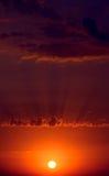 Fantastischer Sonnenuntergang Stockfotografie