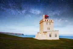 Fantastischer sternenklarer Himmel und die Milchstraße Lizenzfreie Stockfotos