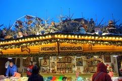 Fantastischer Weihnachtsshop Dresden Stockfoto