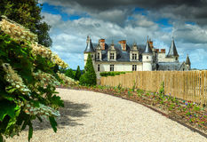 Fantastisches berühmtes Schloss von Amboise, Loire Valley, Frankreich, Europa Lizenzfreie Stockfotos