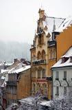 Fantastisches Gebäude, Karlovy unterscheiden sich Lizenzfreies Stockfoto