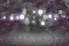 Fantastisches glänzendes Funkelnlichter defocused bokeh abstrakter Hintergrund, Feiertagsmodellbeschaffenheit mit Leerstelle für  vektor abbildung