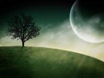 Fantastisches Mondsteigen Stockfotos