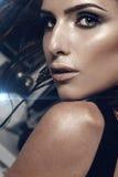 Fantastisches Porträt von schönen Mädchen lizenzfreies stockbild