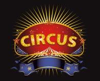 Fantastisches rotes Zirkuszeichen lizenzfreie abbildung