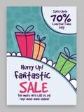 Fantastisches Verkaufs-Plakat-, Fahnen- oder Fliegerdesign Lizenzfreie Stockfotos