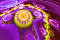 Fantastisk abstrakt modell som liknar den främmande blomman Royaltyfri Foto