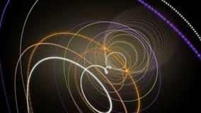 Fantastisk animering med partikelbandobjekt i ultrarapid, 4096x2304 ögla 4K stock video
