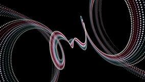 Fantastisk animering med partikelbandobjekt i ultrarapid, 4096x2304 ögla 4K lager videofilmer