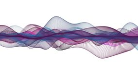 Fantastisk animering med partikelvågobjekt i ultrarapid, 4096x2304 ögla 4K stock video