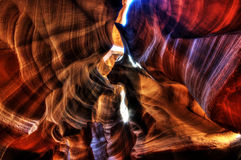 Fantastisk antilopkanjon - HDR Arkivfoton