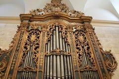 Fantastisk detalj av det italienska barocka organet, minnes- Art Gallery, Rochester, New York, 2017 Royaltyfri Fotografi