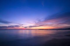 Fantastisk färgrik sky Arkivfoto
