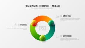Fantastisk företags infographic informationsskärm om statistik Mall för illustration för vektor för design för visualization för  royaltyfri illustrationer