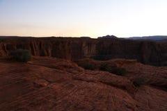 Fantastisk flyg- sikt av hästskokrökningen, sida, Arizona, Förenta staterna fotografering för bildbyråer