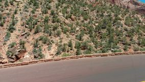 Fantastisk flyg- sikt av Zion National Park, Utah - Förenta staterna arkivfoton