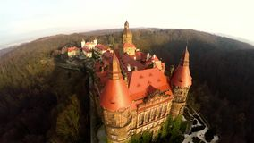 Fantastisk flyg- slott i Polen lager videofilmer