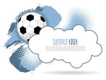 fantastisk fotbollgrunge för bakgrund Royaltyfria Foton