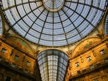 fantastisk galleria italy milan Royaltyfri Fotografi