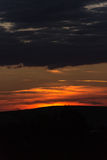 fantastisk guld- solnedgång Royaltyfri Bild