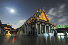 Fantastisk härlig tempel i Bangkok Thailand Arkivfoto