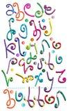 Fantastisk hand tecknat alfabet Royaltyfri Foto