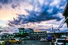 Fantastisk himmel i Ecuador Arkivfoto