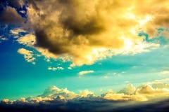 Fantastisk himmel i Ecuador Arkivfoton