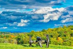 Fantastisk himmel på Gettysburg, Pennsylvania Arkivbilder