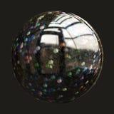 Fantastisk illustrerad glass sfär Arkivbild
