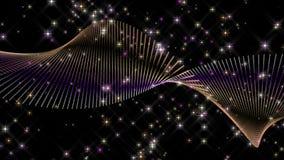 Fantastisk julanimering med partikelobjekt och stjärnor i ultrarapid, 4096x2304 ögla 4K stock illustrationer