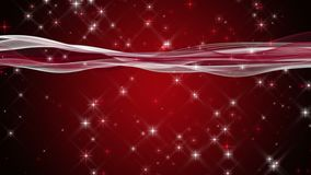 Fantastisk julanimering med vågor och stjärnor i ultrarapid, 4096x2304 ögla 4K royaltyfri illustrationer