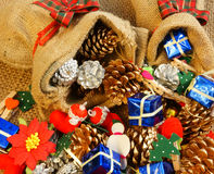 Fantastisk julbakgrund, färgrikt Xmas-material Fotografering för Bildbyråer