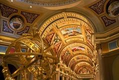Fantastisk kasinolobby, Las Vegas Royaltyfria Foton