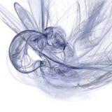Fantastisk lek av dynamisk ljus genomskinlig rök Arkivbild