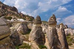 fantastisk liggande för cappadocia Arkivbilder
