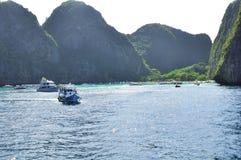 Fantastisk natur och exotisk loppdestination i Phi-Phi Island, Thailand Arkivfoton