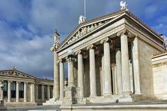 Fantastisk panorama av akademin av Aten, Attica Royaltyfri Fotografi