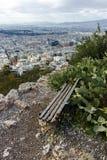 Fantastisk panorama av staden av Aten från den Lycabettus kullen Royaltyfria Bilder