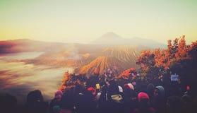 Fantastisk panorama på den Pananjakan synvinkeln royaltyfria bilder