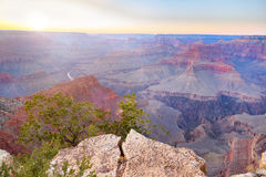 Fantastisk panoramasikt av Grand Canyon bredvid Hopi Point Arkivbild