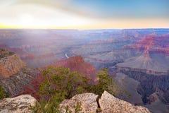 Fantastisk panoramasikt av Grand Canyon bredvid Hopi Point Arkivfoton