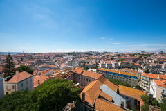 Fantastisk sikt av Lissabon Arkivfoton