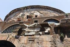 Fantastisk sikt av panteon i stad av Rome fotografering för bildbyråer