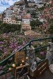 Fantastisk sikt av Positano Royaltyfria Foton