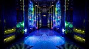 Fantastisk sikt av serverrummet Royaltyfri Bild