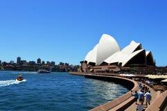 Fantastisk sikt av Sydney Opera House i Australien Arkivfoton